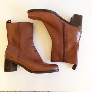 Bandolino Bonolitta Leather Boots Square Toe/ Heel